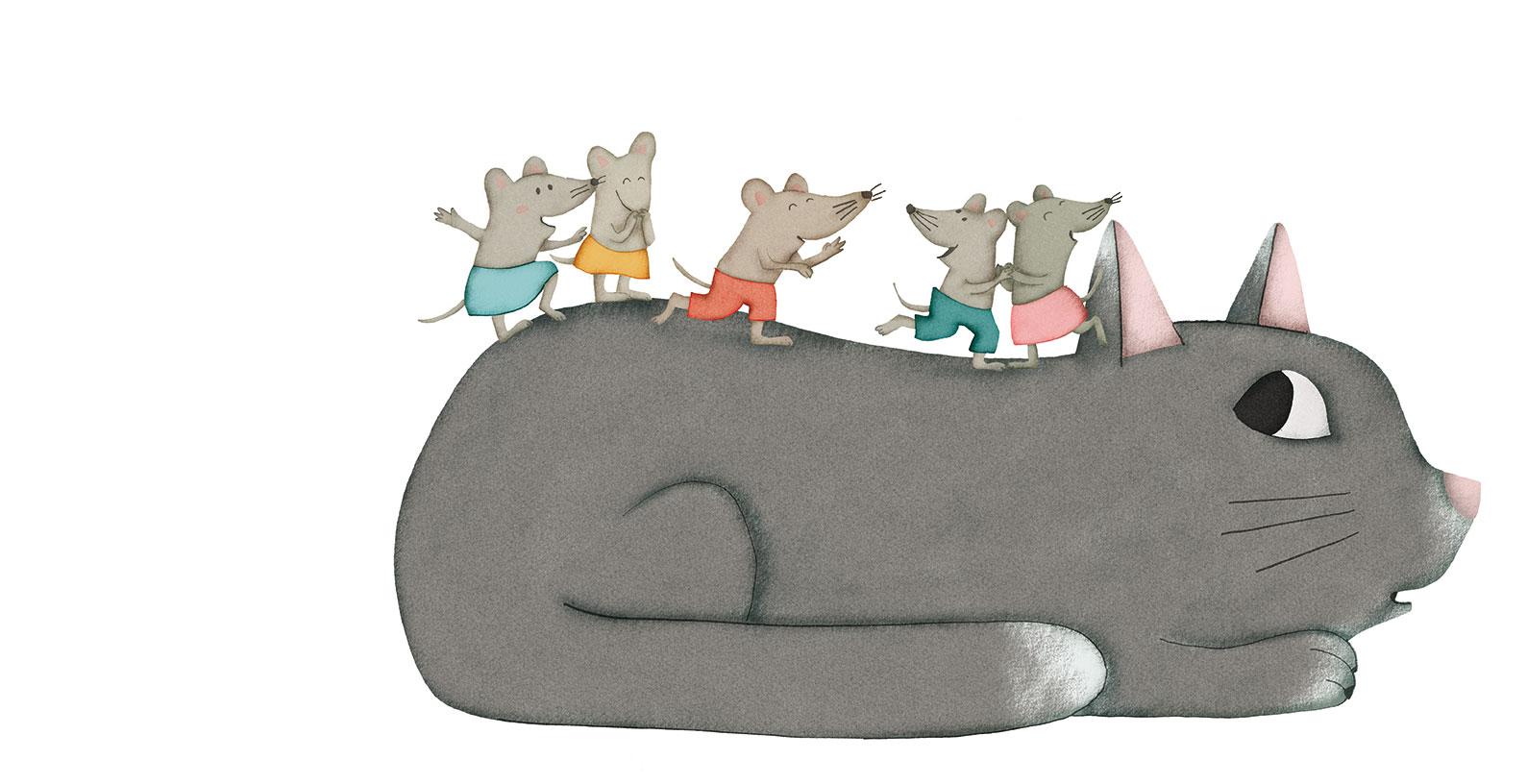 Le gros chat gris