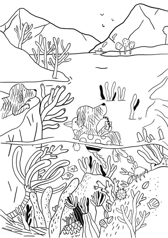 Maud Legrand coloriage forêt enchantier